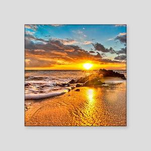"""Sunrise Beach Square Sticker 3"""" x 3"""""""