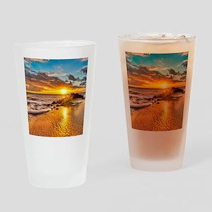 Sunrise Beach Drinking Glass