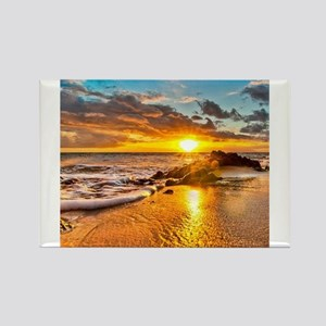 Sunrise Beach Rectangle Magnet