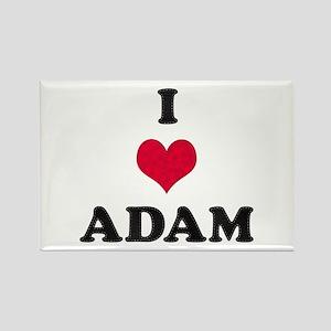 I Love Adam Rectangle Magnet