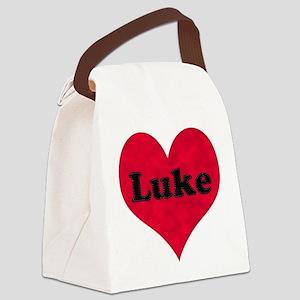 Luke Leather Heart Canvas Lunch Bag