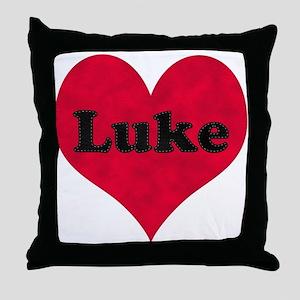 Luke Leather Heart Throw Pillow