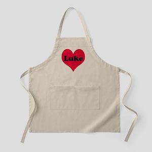 Luke Leather Heart Apron
