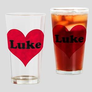 Luke Leather Heart Drinking Glass