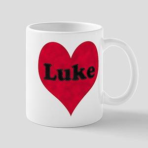 Luke Leather Heart Mug