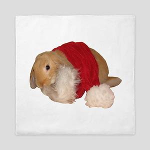 xmas bunny 1 Queen Duvet