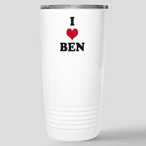 I Love Ben Stainless Steel Travel Mug