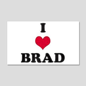 I Love Brad 22x14 Wall Peel