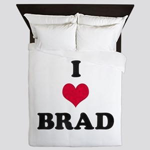 I Love Brad Queen Duvet