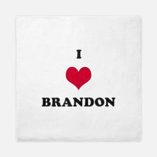 I Love Brandon Queen Duvet