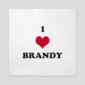 I Love Brandy Queen Duvet