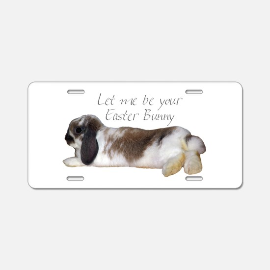 easter bunny 1 Aluminum License Plate