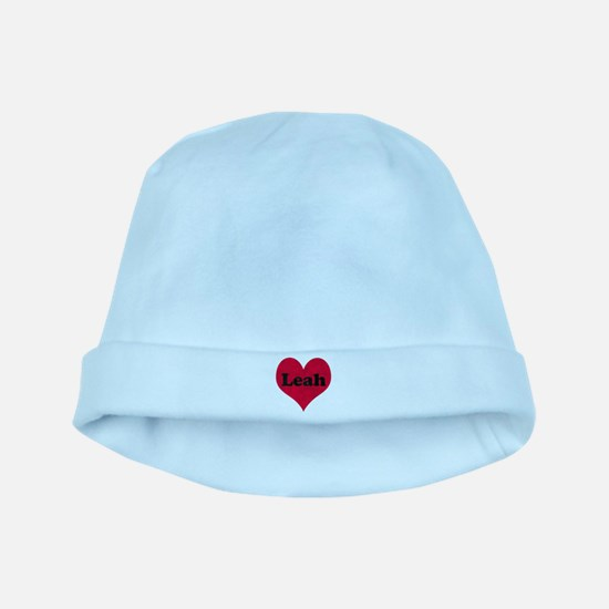 Leah Leather Heart baby hat