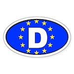 Germany - European Union Oval Sticker