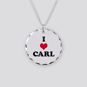 I Love Carl Necklace Circle Charm