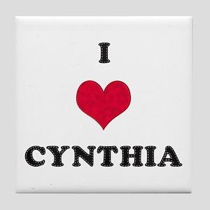 I Love Cynthia Tile Coaster