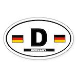 Germany International Style Oval Sticker