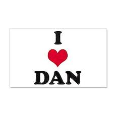 I Love Dan 22x14 Wall Peel