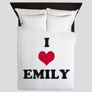I Love Emily Queen Duvet