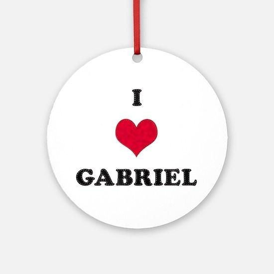 I Love Gabriel Round Ornament
