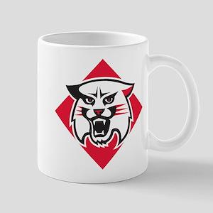Davidson Wildcat Mascot Head Log 11 oz Ceramic Mug