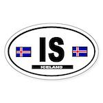 Iceland International Style Oval Sticker
