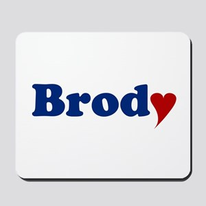 Brody with Heart Mousepad