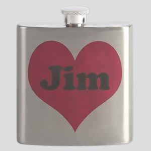 Jim Leather Heart Flask