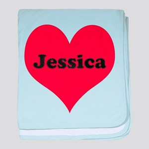 Jessica Leather Heart baby blanket