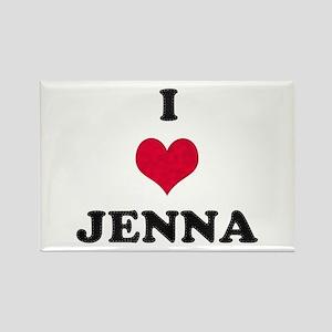 I Love Jenna Rectangle Magnet