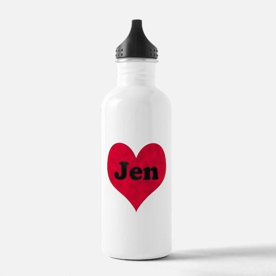 Jen Leather Heart Water Bottle