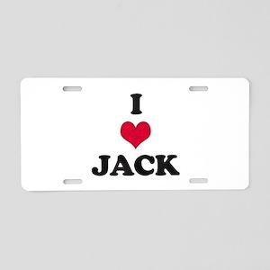 I Love Jack Aluminum License Plate