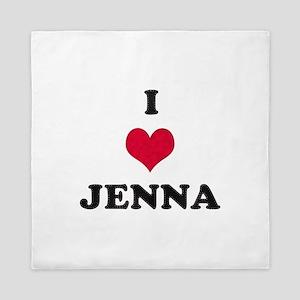 I Love Jenna Queen Duvet