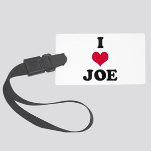 I Love Joe Large Luggage Tag