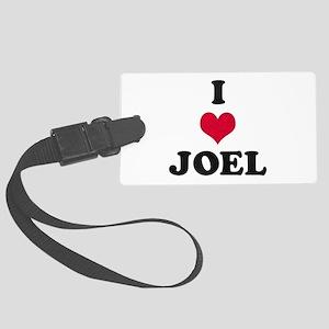 I Love Joel Large Luggage Tag