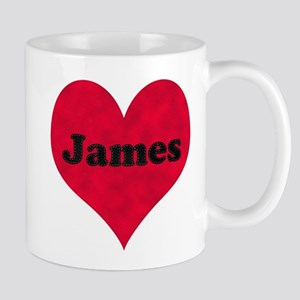 James Leather Heart Mug