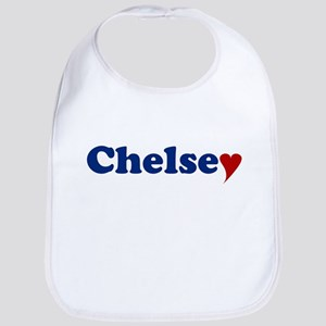 Chelsey with Heart Bib