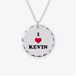 I Love Kevin Necklace Circle Charm