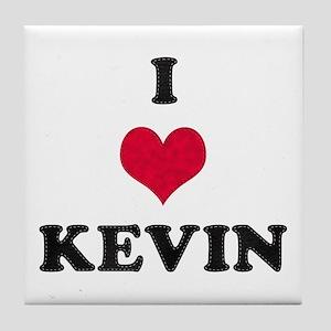I Love Kevin Tile Coaster