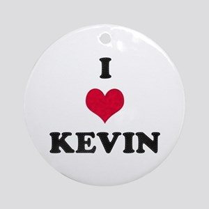 I Love Kevin Round Ornament