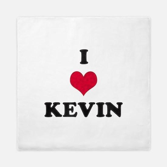 I Love Kevin Queen Duvet
