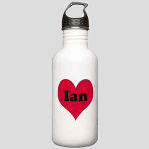 Ian Leather Heart Stainless Water Bottle 1.0L