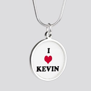 I Love Kevin Silver Round Necklace