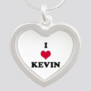 I Love Kevin Silver Heart Necklace