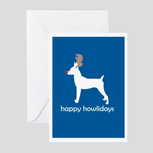 "Toy Fox Terrier ""Happy Howlid Greeting Cards (Pack"