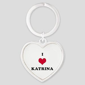 I Love Katrina Heart Keychain