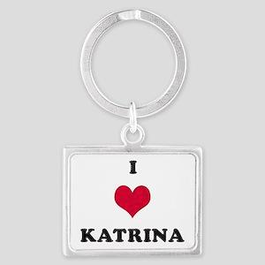 I Love Katrina Landscape Keychain