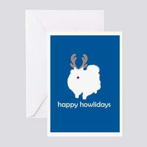 "Pomeranian ""Happy Howlidays"" Greeting Cards (Packa"