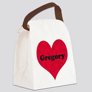 Gregory Leather Heart Canvas Lunch Bag
