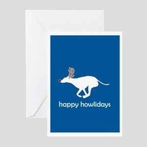 "Greyhound ""Happy Howlidays"" Greeting Cards (Packag"
